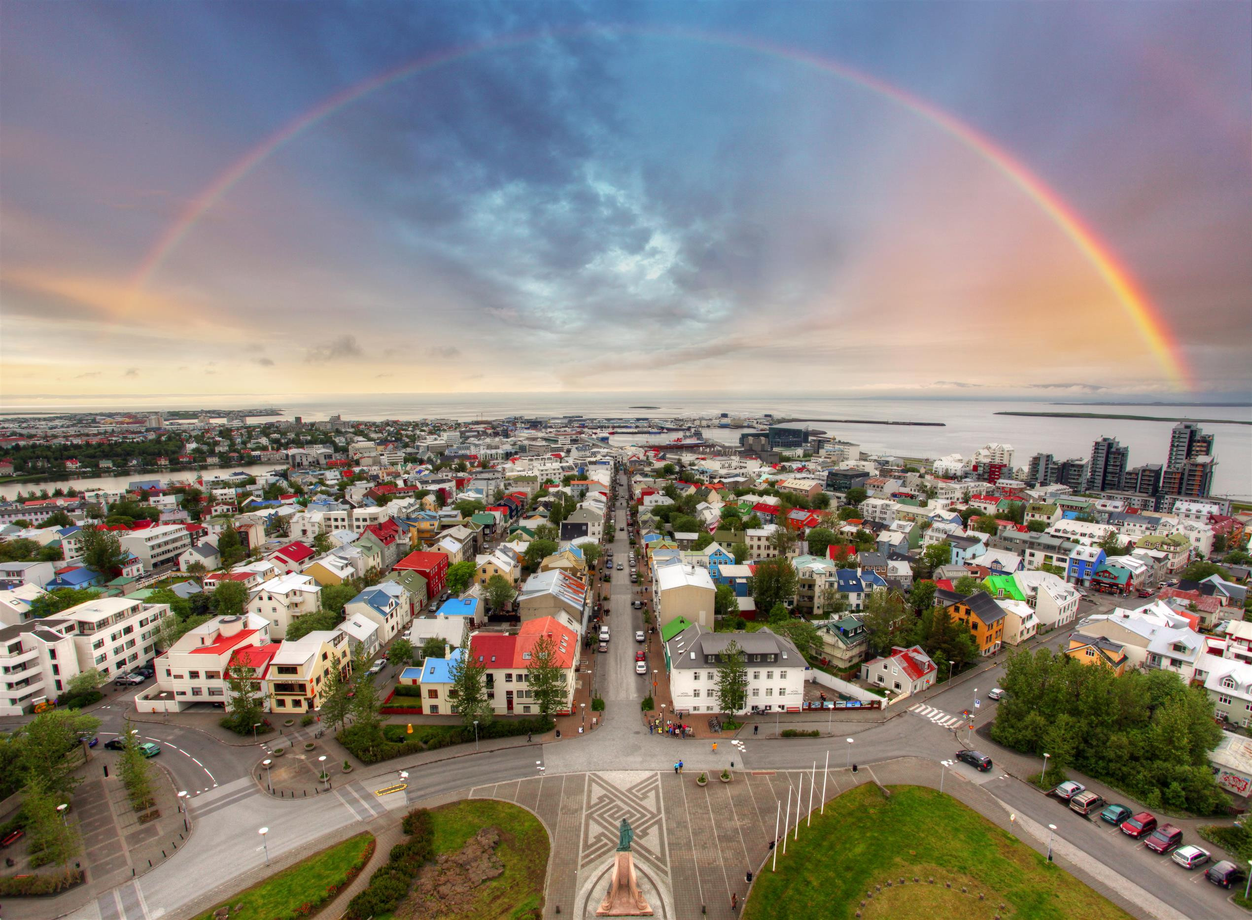 3rd happiest city in europe Reykjavik