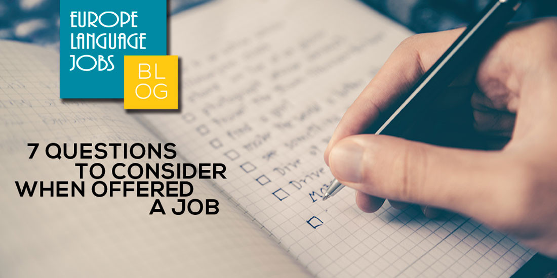 7 questions to consider when offered a job