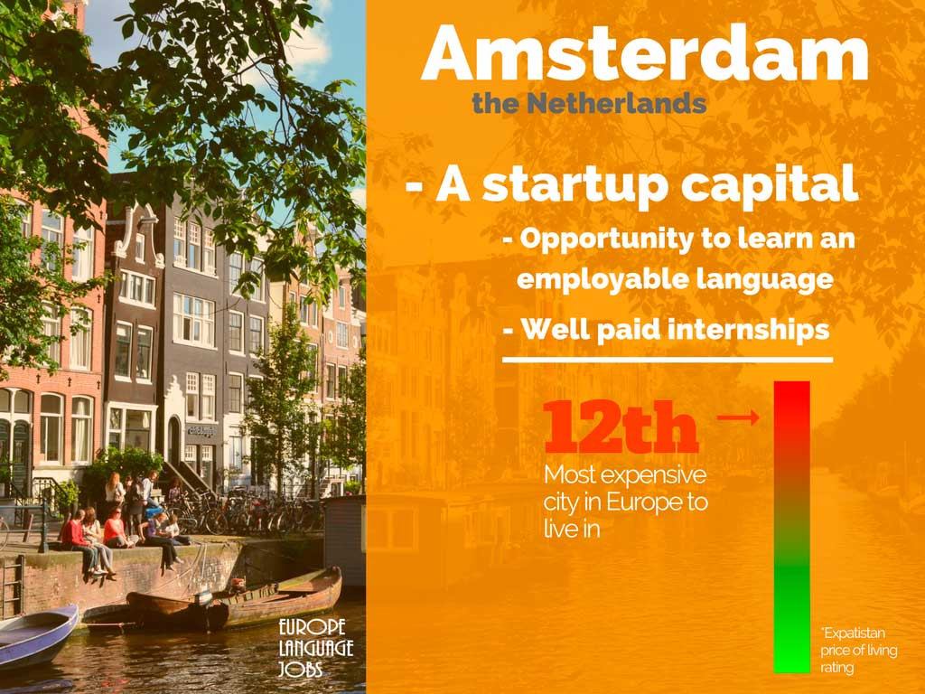 Do an internship abroad in Amsterdam