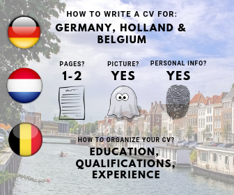 How to write a CV for Germany Holland Belgium