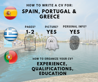How to write a CV for Spain Portugal Greece