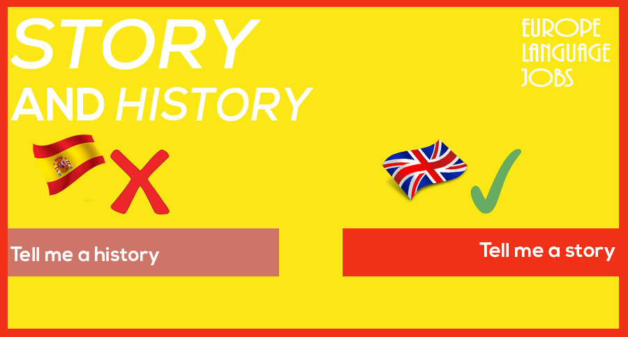 Difference between story and history in English