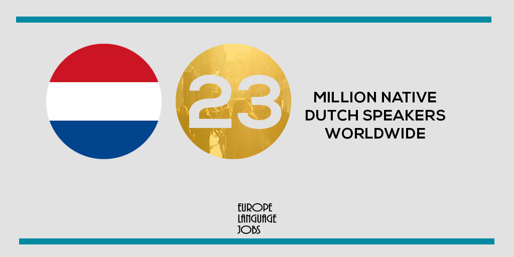 23 million Dutch speakers worldwide