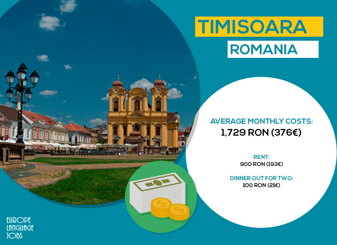 Timisoara, one of the cheapest cities in Europe