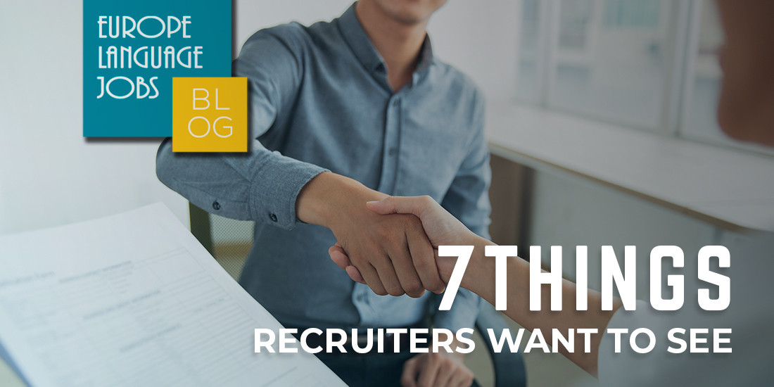 What recruiters want to see