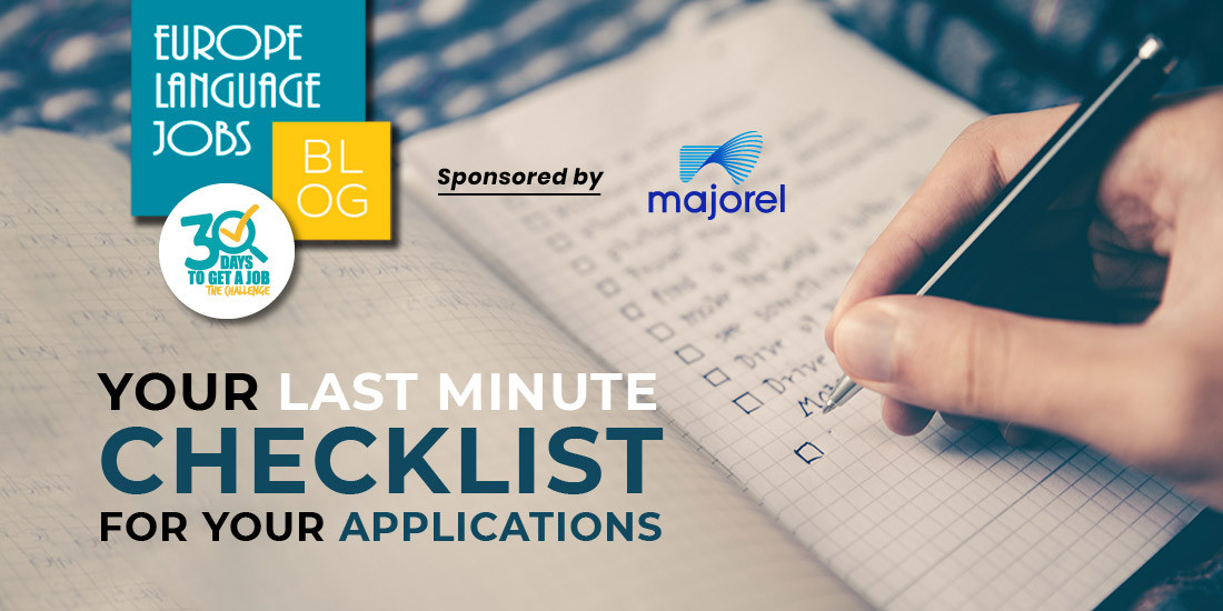 last minute checklist for job application
