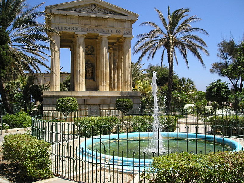 cheapest-places-to-live-and-travel-in-europe-Valletta Barrakka Gardens