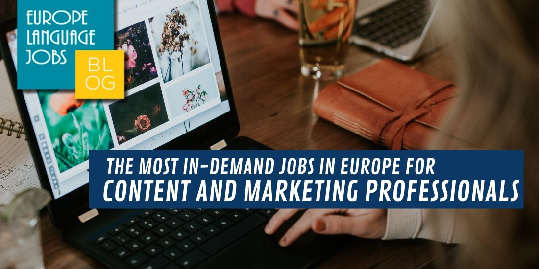 indemand jobs in Europe content and marketing