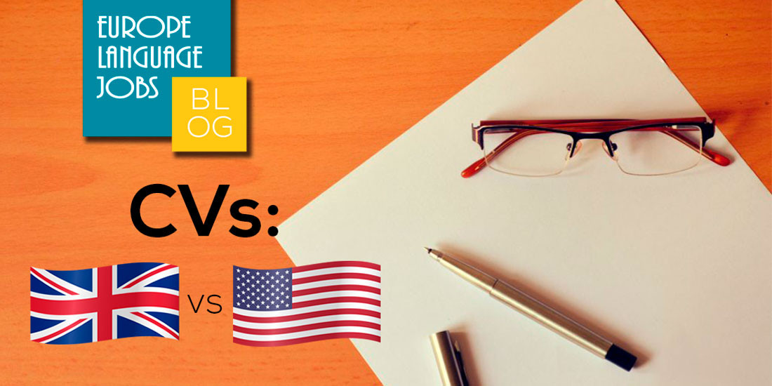 Differences between Cvs in the UK and US