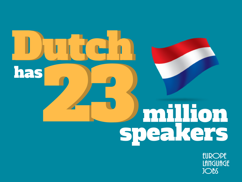 Is Dutch dying? With 23 Millions speakers maybe not