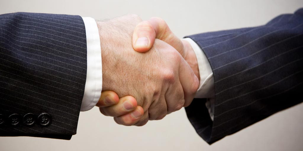 Handshake in an interview