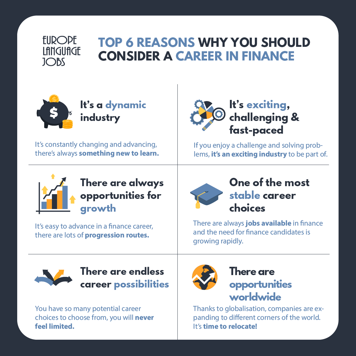 Top 6 Reasons Why You Should Consider A Career In Finance