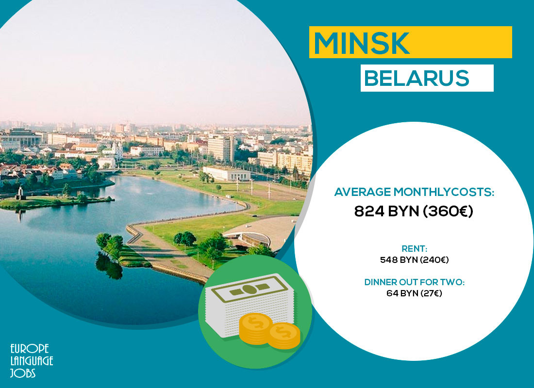 Minsk, one of the cheapest cities in Europe