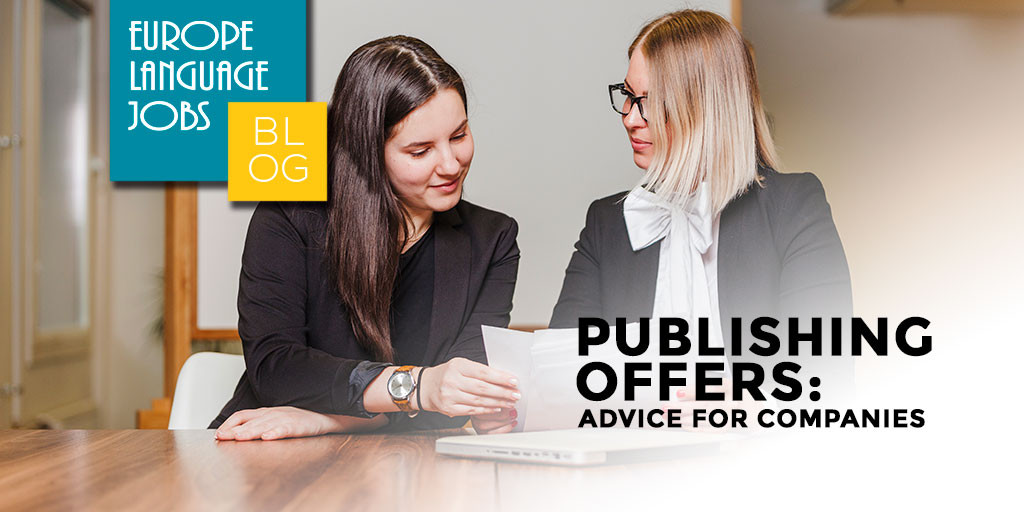 advice for companies on publishing offers