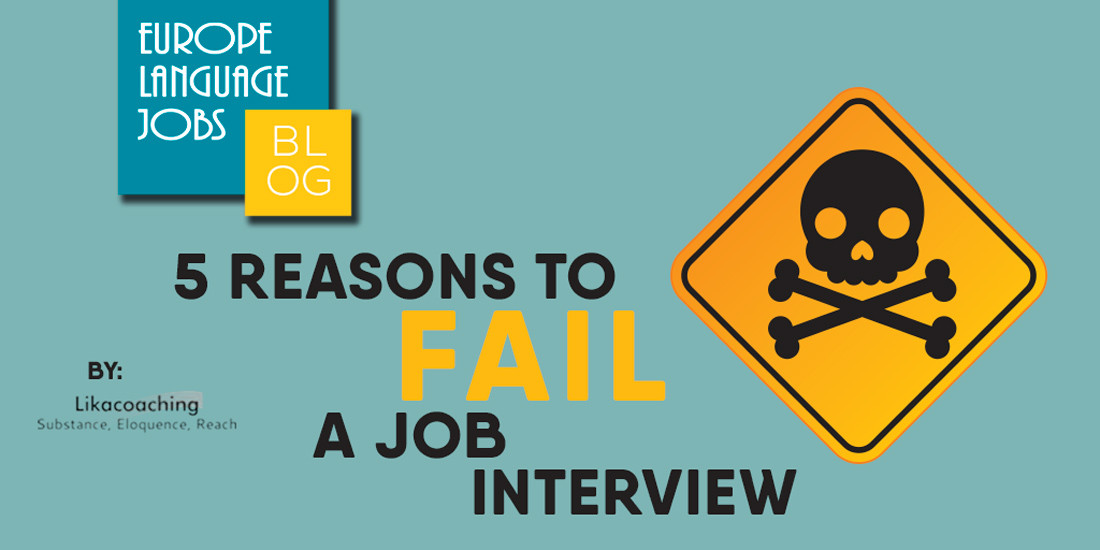 5 reasons to fail a job interview