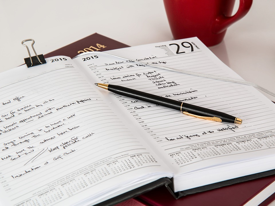 use a diary for job searching